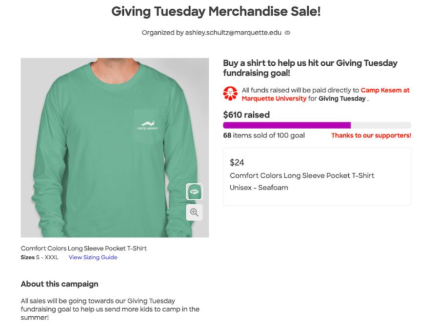 giving-tuesday-idea-merhcandise-sale